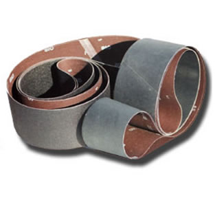 Silicon carbide sanding belts